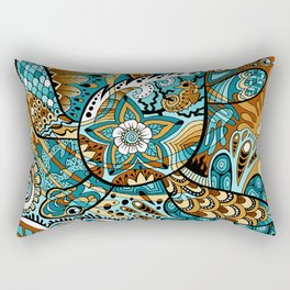Topsy-Turvy Turtle Rectangular Pillow