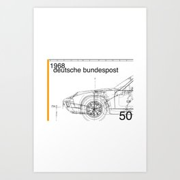Germany stamp II Art Print