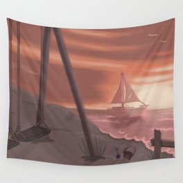 Beach glass Wall Tapestry