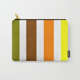 Beginning of Spring Stripes - Abstract - Yellow Green Orange Carry-All Pouch