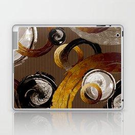 Big Dark Brass Yellow and Brown Rings and Circles Laptop & iPad Skin