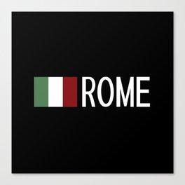 Italy: Italian Flag & Rome Canvas Print