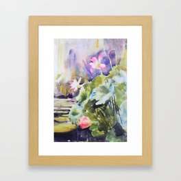 Giant Waterlilies Framed Art Print