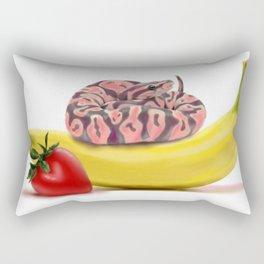 Snake on Banana Rectangular Pillow