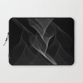 Black and White Flux #minimalist #homedecor #generativeart Laptop Sleeve