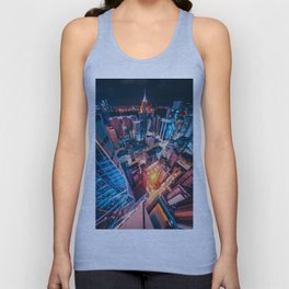 The Lights of the City Aerial View (Color) Unisex Tank Top