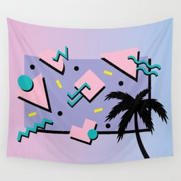 Memphis Pattern 25 - Miami Vice / 80s Retro / Palm Tree Wall Tapestry