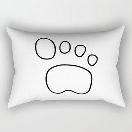 footprint dog cat animal Rectangular Pillow