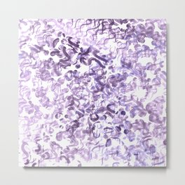 Abstract wave Purple Design Metal Print