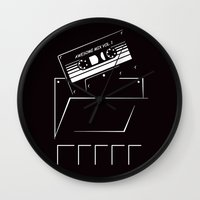 starlord Wall Clocks featuring Gardians of the galaxy ( awesome mix vol.1) by MISTER BLACKWHITE