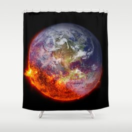 Global Warming Climate Change Shower Curtain