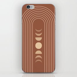 Mid Century Modern Geometric 10 (Moon phases) iPhone Skin