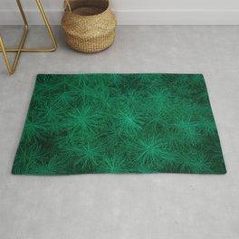 Elegant Green Fern Rug