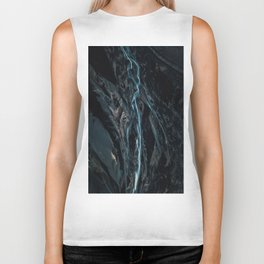 Abstract River in Iceland - Landscape Photography Biker Tank