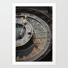 Astronomical clock Prague Art Print