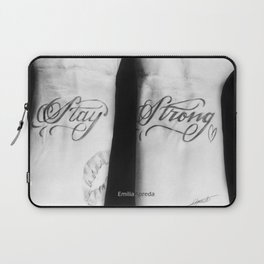 Demi Stay Strong Tattoo Drawing Laptop Sleeve