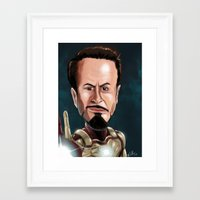 robert downey jr Framed Art Prints featuring Robert Downey Jr by Carrillo Art Studio