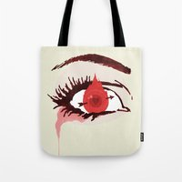 games Tote Bags featuring The Games by Duke Dastardly