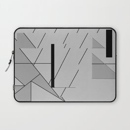 Grey Triangles Pattern Laptop Sleeve
