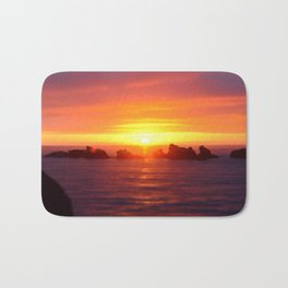 Colorful ocean Bath Mat