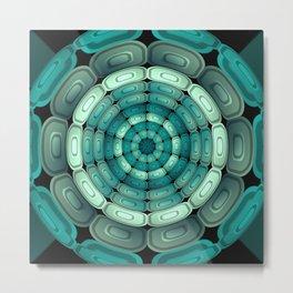 Radial dark turquoise Metal Print