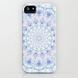 Purple, Blue, and Green Pastel Mandala iPhone Case