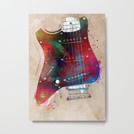 Guitar art 20 #guitar #music Metal Print