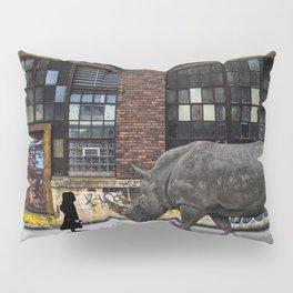 Real Rhinos Wear Pink Pillow Sham