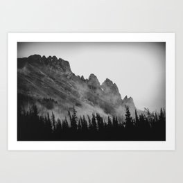 The Crags at Dawn Art Print