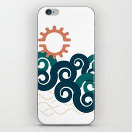 sun in a beach iPhone Skin