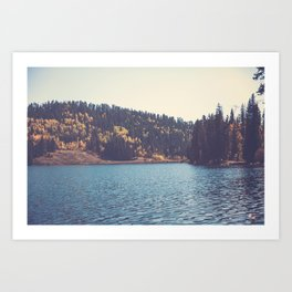 Autumn Mountain Lake x Colorado Photography Art Print