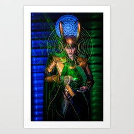 Little Loki's Green Tea Art Print