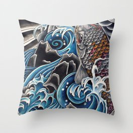 Koi by Sebastian Orth Throw Pillow