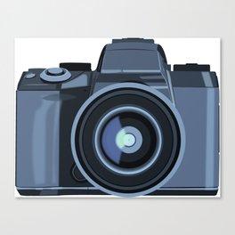 Blue Camera Graphic Canvas Print