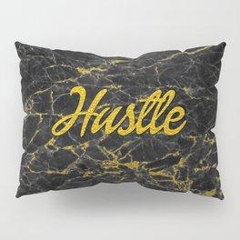 Gold Hustle Black Marble Pillow Sham