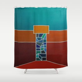 """""""Temple"""" Shower Curtain"""
