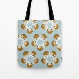 Flower Power surface pattern (blue-yellow) Tote Bag