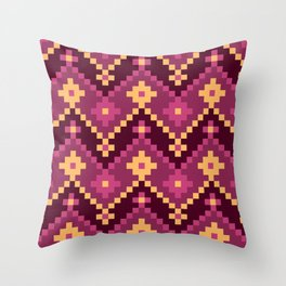 Colorful & Sexy Aztec Inspired Abstract Pattern #1 Throw Pillow