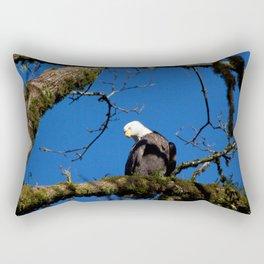 Perching Eagle Rectangular Pillow