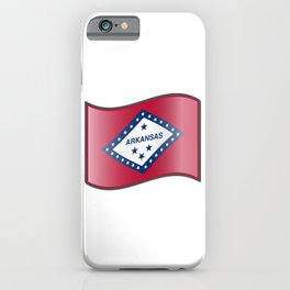 Waving Flag of Arkansas iPhone Case