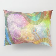 Faded Astral Cells Pillow Sham