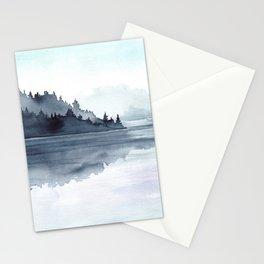 Misty Lake Morning Stationery Cards