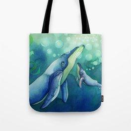 Mama & Baby Whale Tote Bag