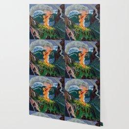 Astrup Nikolai (1880-1928) Midsummer Night Bonfire Wallpaper