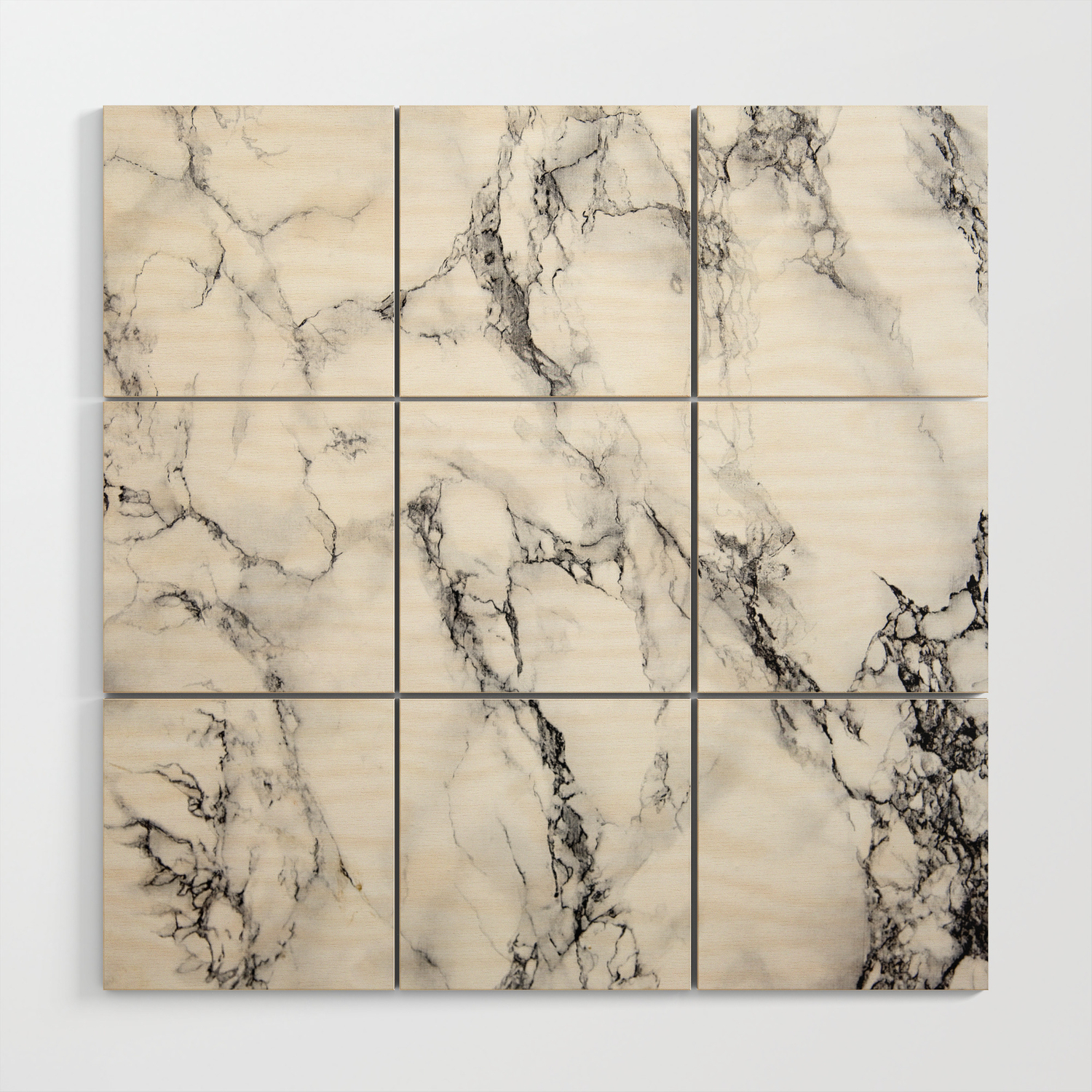 White Faux Marble Texture Wood Wall Art By Artonwear Society6
