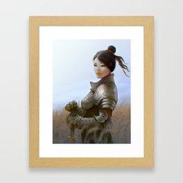 Lady Knight Framed Art Print