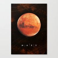 mars Canvas Prints featuring MARS by Alexander Pohl