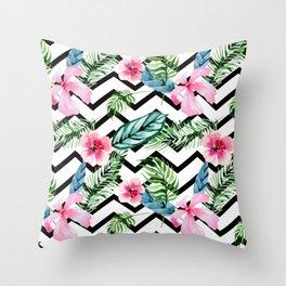 Tropical x Chevron x Islandlife Throw Pillow