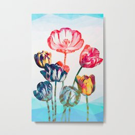 Floreal - Tulip Flowers Surreal Daydream Metal Print
