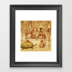 The Tortoise and the Beetle Framed Art Print